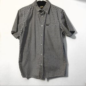 Vans Checker Print Short Sleeve Button Shirt